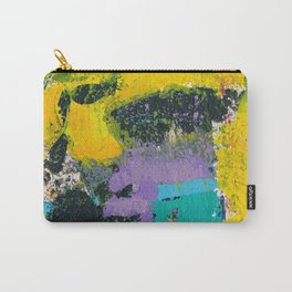 Whisper Yellow Abstract Carry-All Pouch