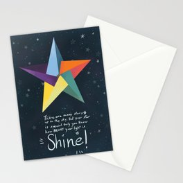 You are a star. Shine! Stationery Cards