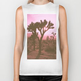 Rosy Haze In Joshua Tree Biker Tank
