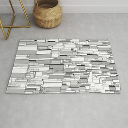 Tall city B&W / Lineart city pattern Rug