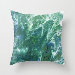 Sea Foam by Julia Duerler Throw Pillow