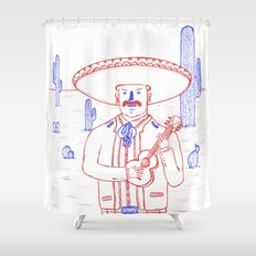 Mariachi in the Desert Shower Curtain