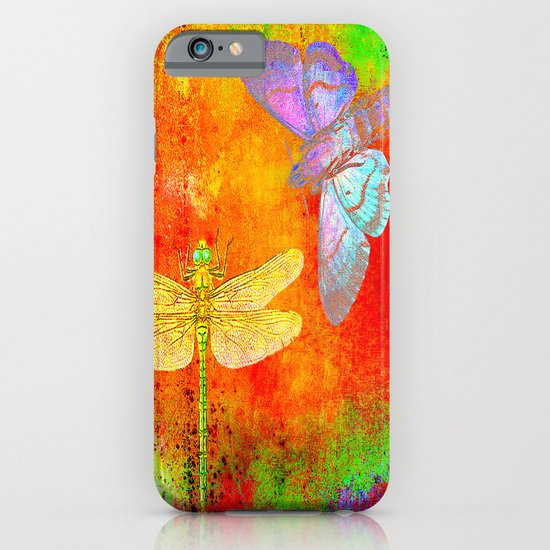 The Dragonfly and the Butterfly iPhone & iPod Case