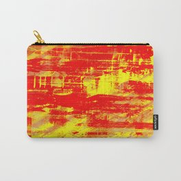 Sunburn - Abstract, yellow, red and orange, textured oil painting Carry-All Pouch