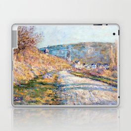 1879-Claude Monet-The Road to Vétheuil-23 x 28 Laptop & iPad Skin