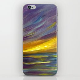 Wispy Sunset Seascape iPhone Skin