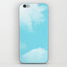 Aqua Blue Clouds iPhone Skin
