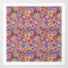 Millefiori-Sunset colorway Art Print