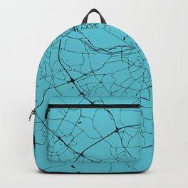 Dublin Ireland Turquoise on Black Street Map Backpack