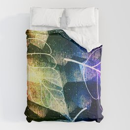 Leaves In Rainbow Colors Comforters