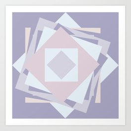 When stickies pile up like blooming rose... Art Print