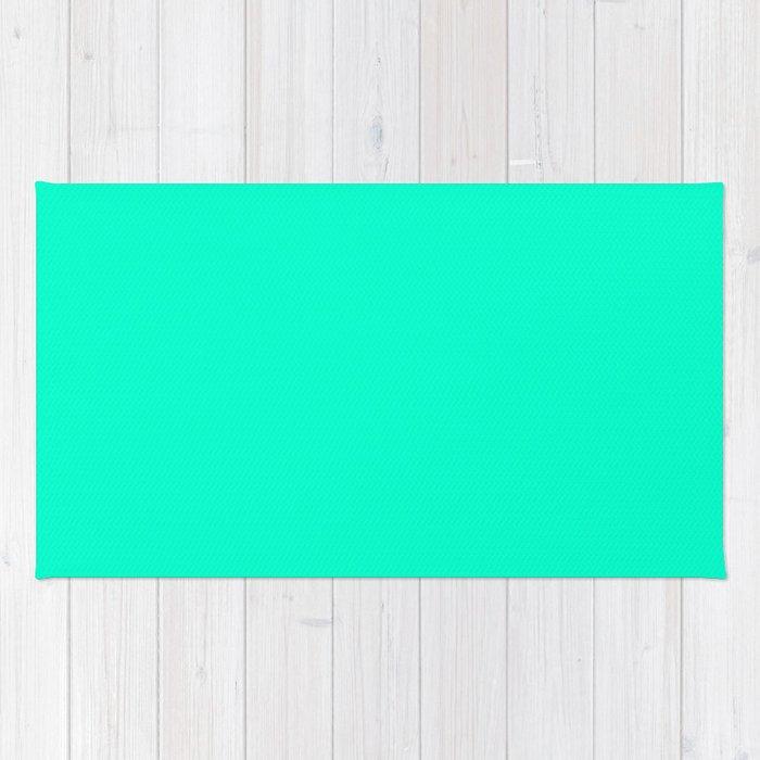 Sea Green Crayola Solid Color Rug