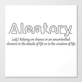 Aleatory Canvas Print