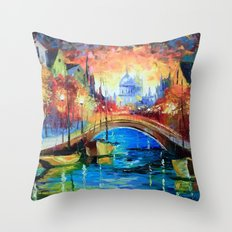 Evening Amsterdam Throw Pillow