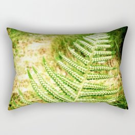 Green Fern Rectangular Pillow