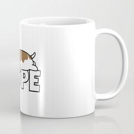 Nope Basset Hound Coffee Mug