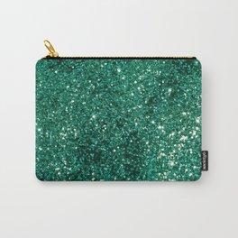 Sparkling EMERALD Lady Glitter #1 #shiny #decor #art #society6 Carry-All Pouch