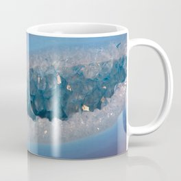 Sparkly Purple and Blue Geode Agate with Crystal Druzy Coffee Mug