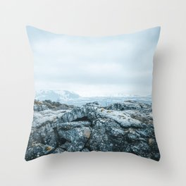 Winter in Iceland Throw Pillow