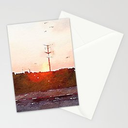 Four Hours In The Car Stationery Cards