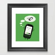 Flight Mode Framed Art Print
