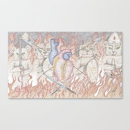 Heart of a warrior Canvas Print