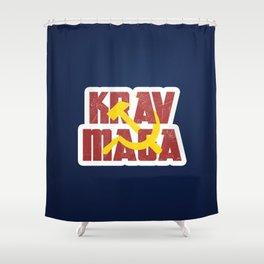 Krav Maga Russia Soviet Union Shower Curtain