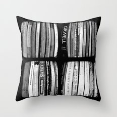 The Bookshelf - Through The Viewfinder (TTV) - Polyptych Throw Pillow