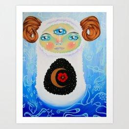 Dreamtime Yeti Art Print