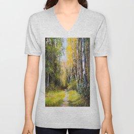 Birch Grove # 3 Unisex V-Neck