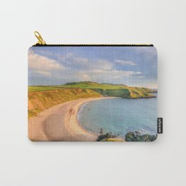 Porthor Bay at Sundown Carry-All Pouch