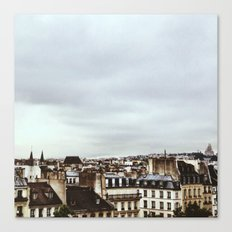 Upon the rooftops Canvas Print