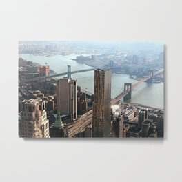 Vintage New City Metal Print