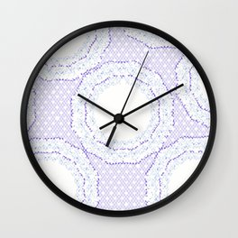 Lace Pattern Neck Gator Lacey Blue Wall Clock