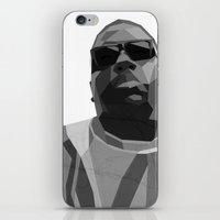 notorious big iPhone & iPod Skins featuring Notorious BIG by Joshua Baron