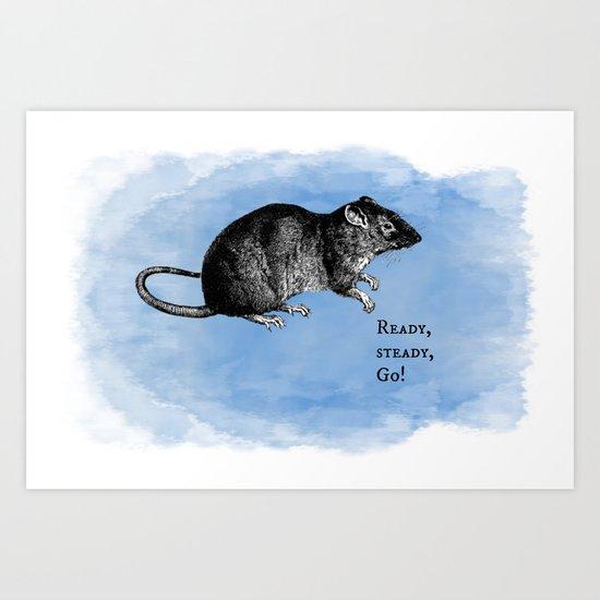 WordPlay 3 : Rat Race Art Print