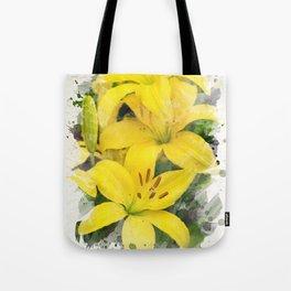 Lily Watercolor Art Tote Bag