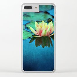 waterlily textures Clear iPhone Case