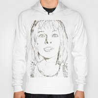 fifth element Hoodies featuring Leeloo Fifth Element sketch- Milla Jovovich  by Robin Stevens