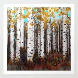 Early Spring Birch Trees #5 Art Print