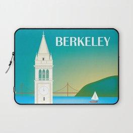 Berkeley, California - Skyline Illustration by Loose Petals Laptop Sleeve