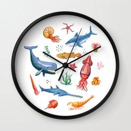 Prehistoric Ocean Critters Wall Clock