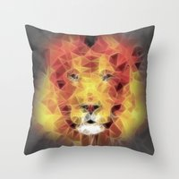 the lion king Throw Pillows featuring lion king by Ancello