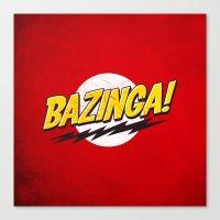 bazinga Canvas Prints featuring Bazinga Flash by Nxolab