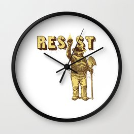 Smokey Says Resist Wall Clock