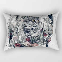 Cat in flowers Rectangular Pillow