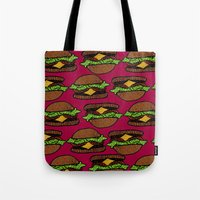 hamburger Tote Bags featuring Hamburger by nsvtwork