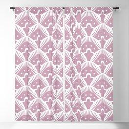 Fan Pattern 431 Dusty Rose Blackout Curtain