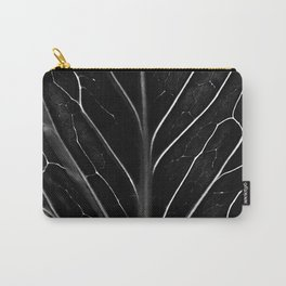 Black leaf with abstract patterns Carry-All Pouch