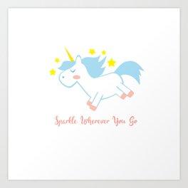 Sparkling Unicorn Art Print